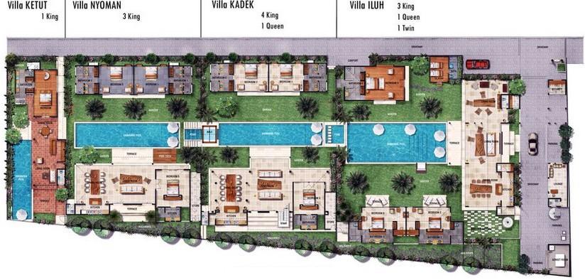 VILLA ABACA NYOMAN Luxury 40 Bedroom Villa Seminyak Luxury Seminyak Fascinating Bali 4 Bedroom Villa Plans